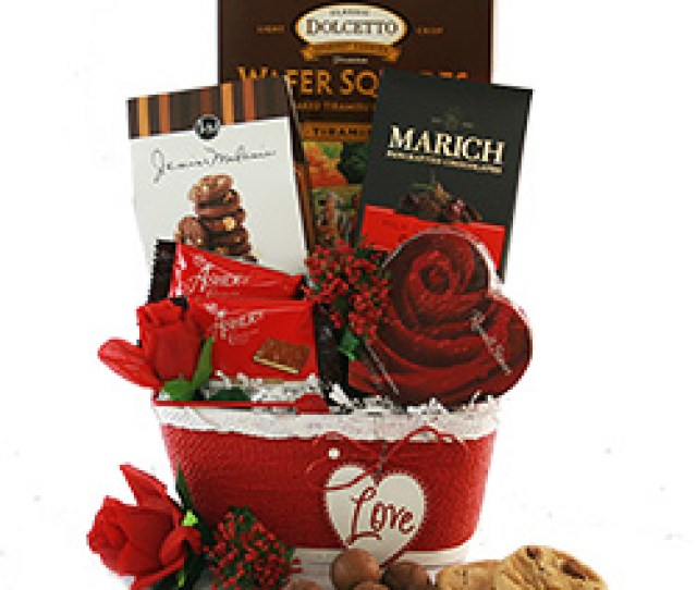 All My Heart Valentines Day Gift Basket