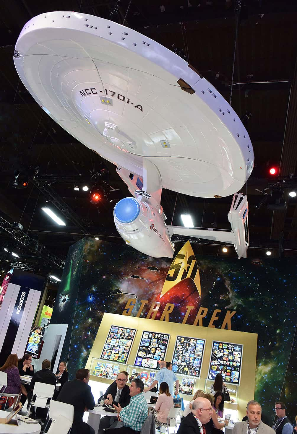 The Star Trek booth at the Licensing Expo