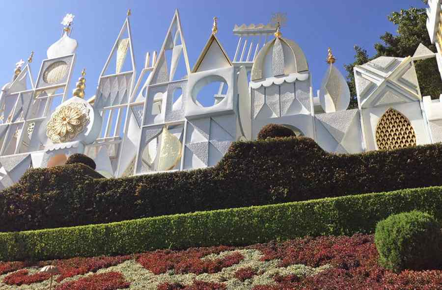 """Exterior of """"It's a Small World"""" designed by Mary Blair"""