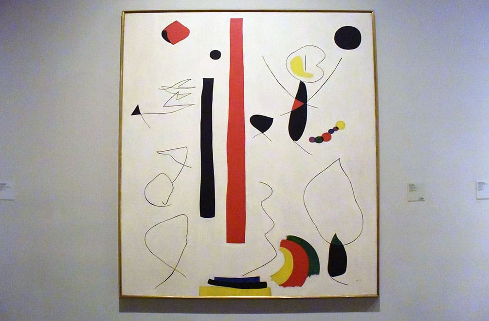 Miro painting opposite Lustig exhibiti