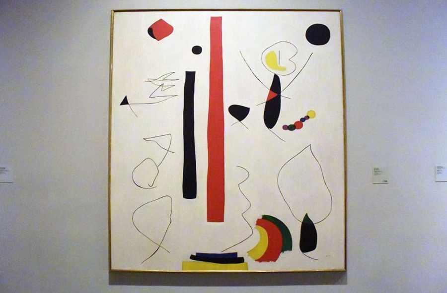 Miro painting opposite Lustig exhibiti