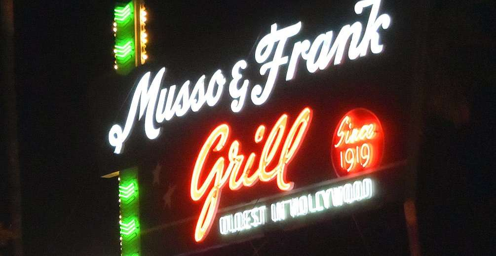 Musso and Frank Grill neon sign
