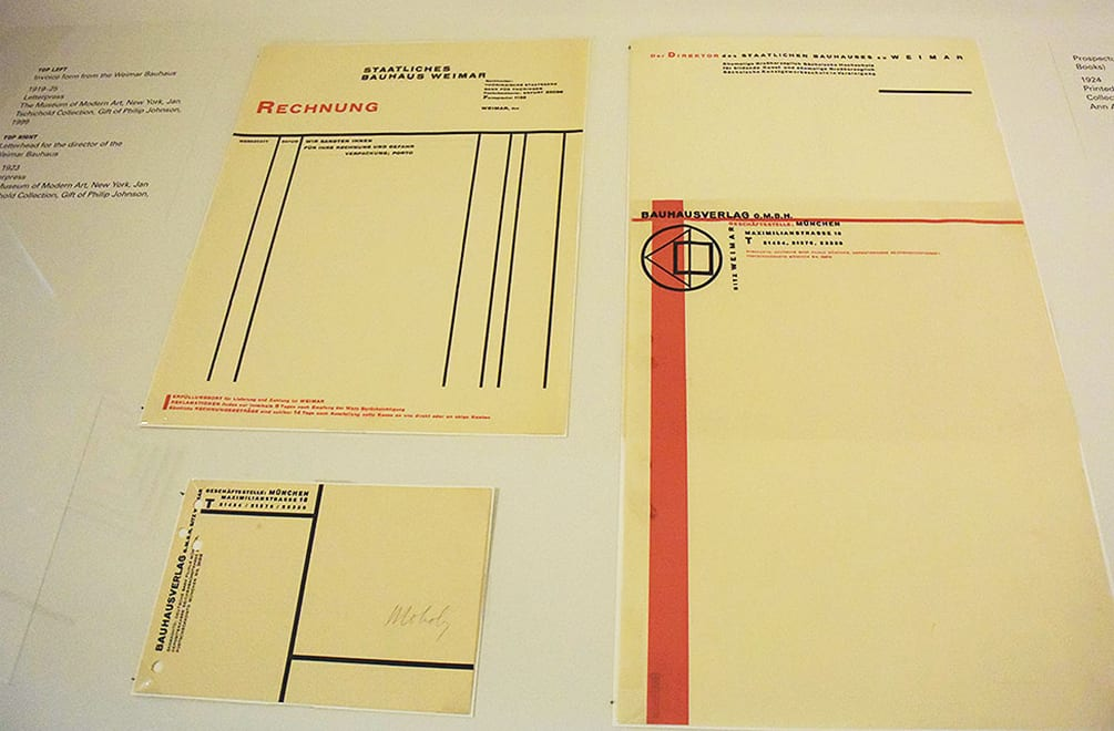 Bauhaus Stationery designed by Moholy-Nagy