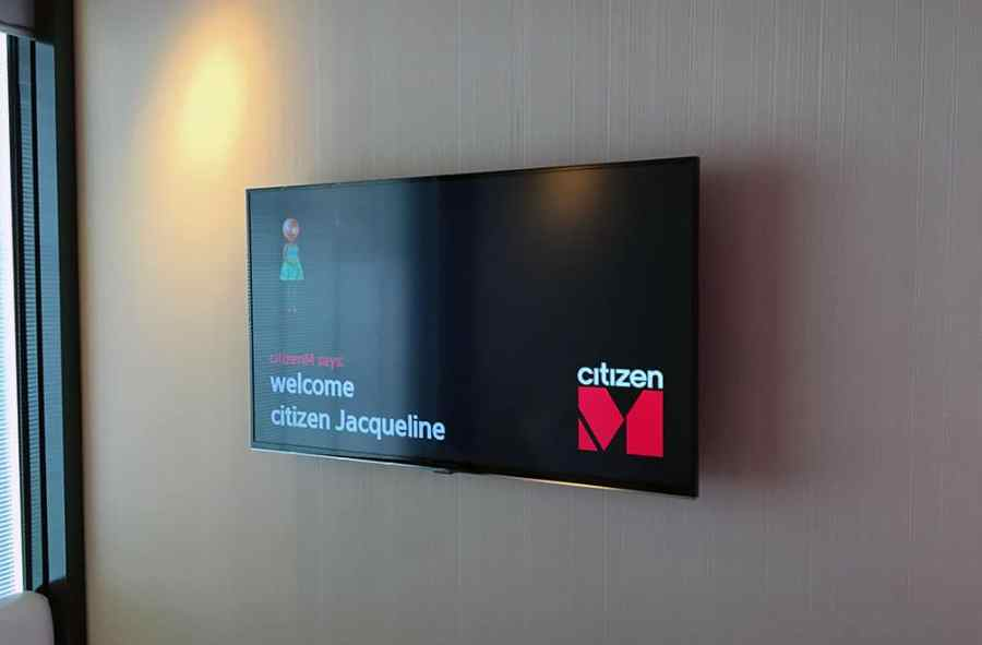 TV in the room at CitizenM