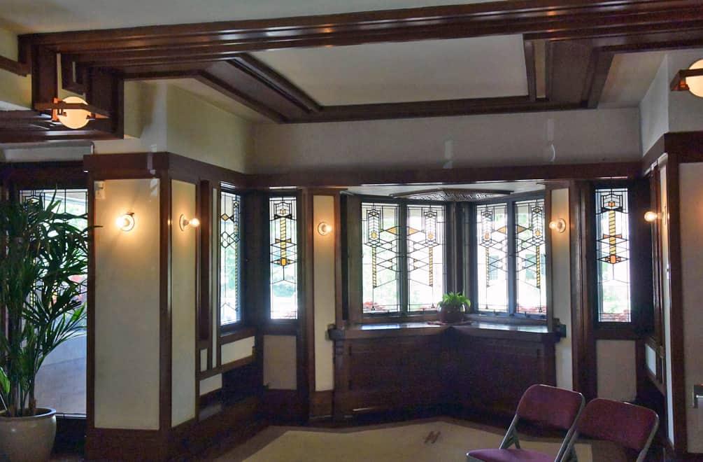 Frank Lloyd Wright Robie House living room