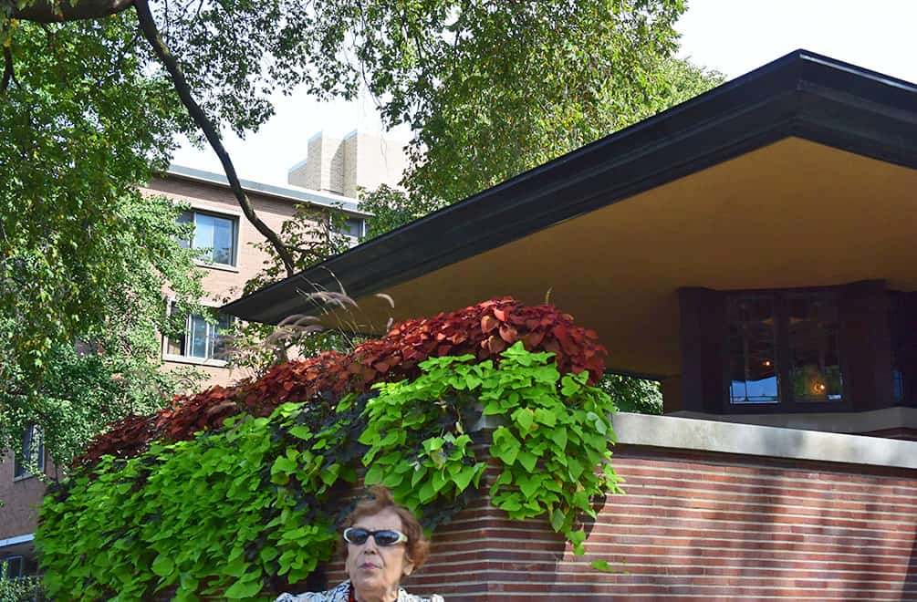 Robie House cantilever with tour guide