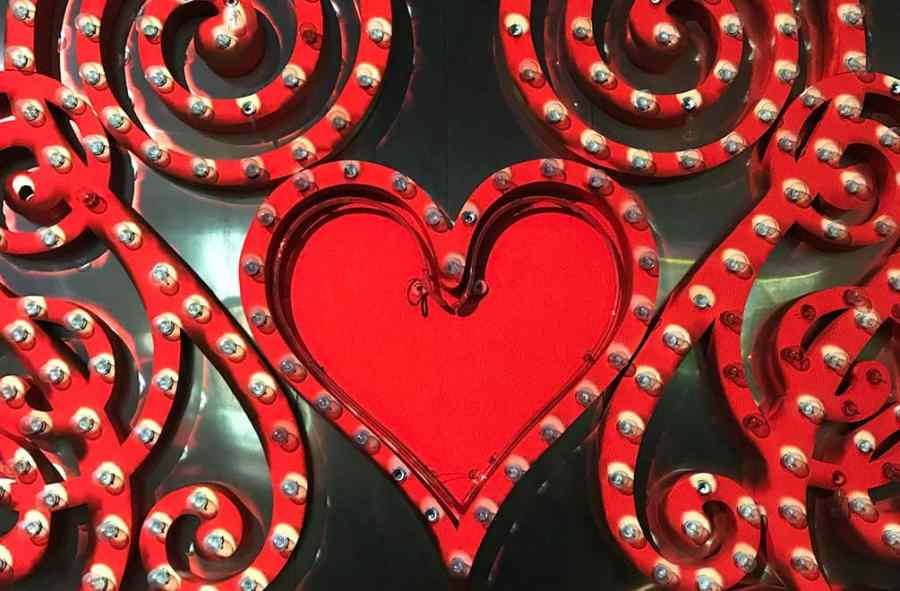 Heart lights from brilliant, neon museum las vegas