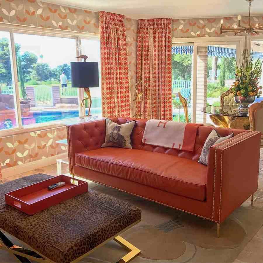 Sarno house, orange room