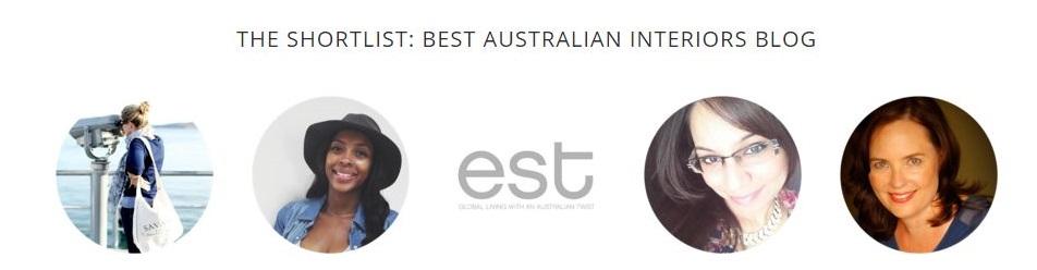 Amara Interior Blogging Awards #IBA15 - Shortlisted The Design Library Best Australian Interiors Blog Category 2015