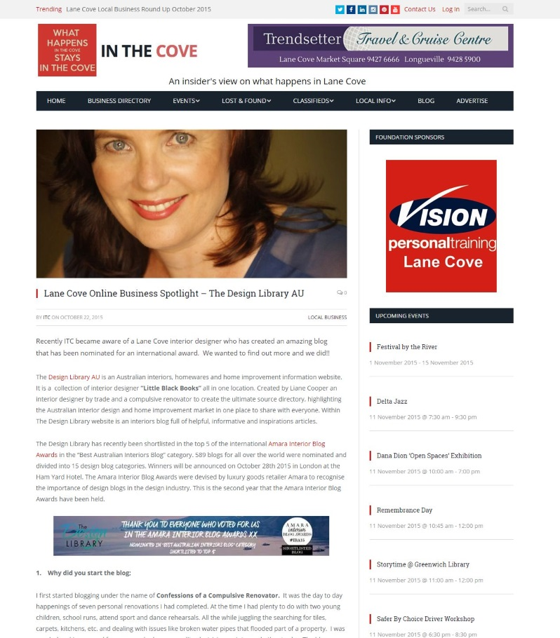 In The Cove - The Design Library An online Business with Liane Cooper