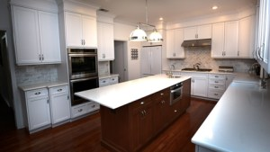 White Kitchen Cherry Island Little Silver New Jersey By
