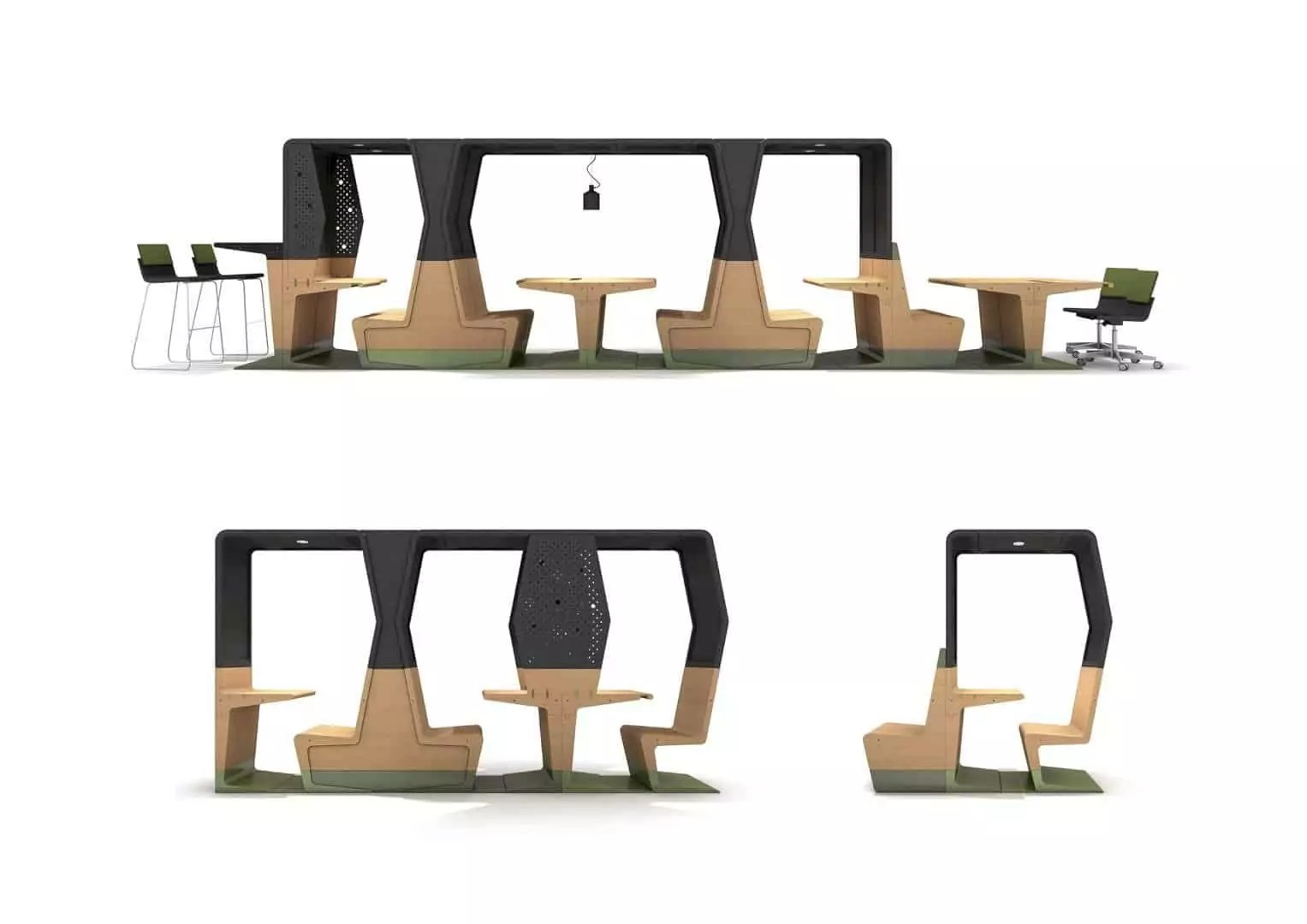 HUBB: An Innovative Modular Furniture Collection for Learning Environments