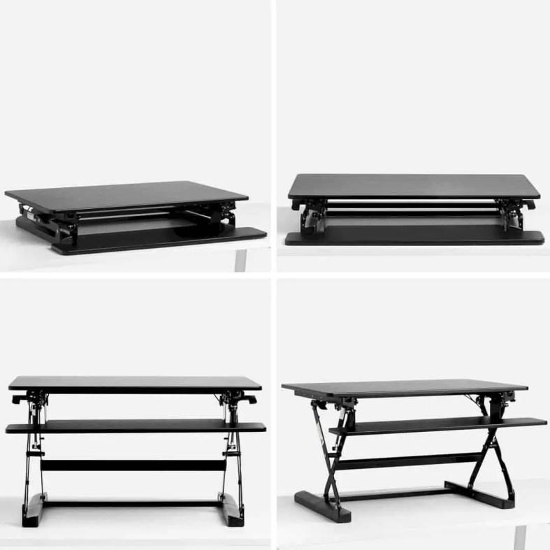 Black Medium Peak Adjustable Height Standing Desk Riser 4