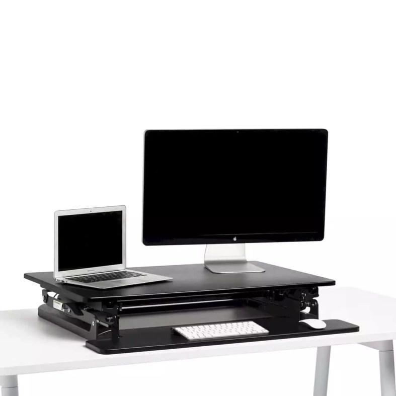 Black Medium Peak Adjustable Height Standing Desk Riser 5