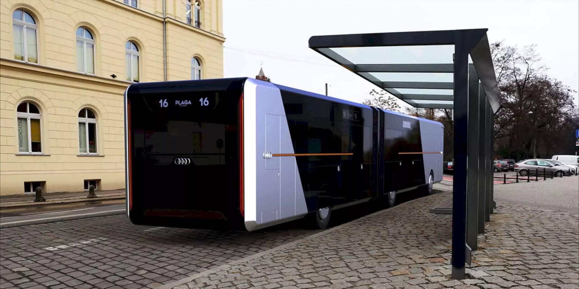 Audi City Bus: A Conceptual Design of A Futuristic Bus