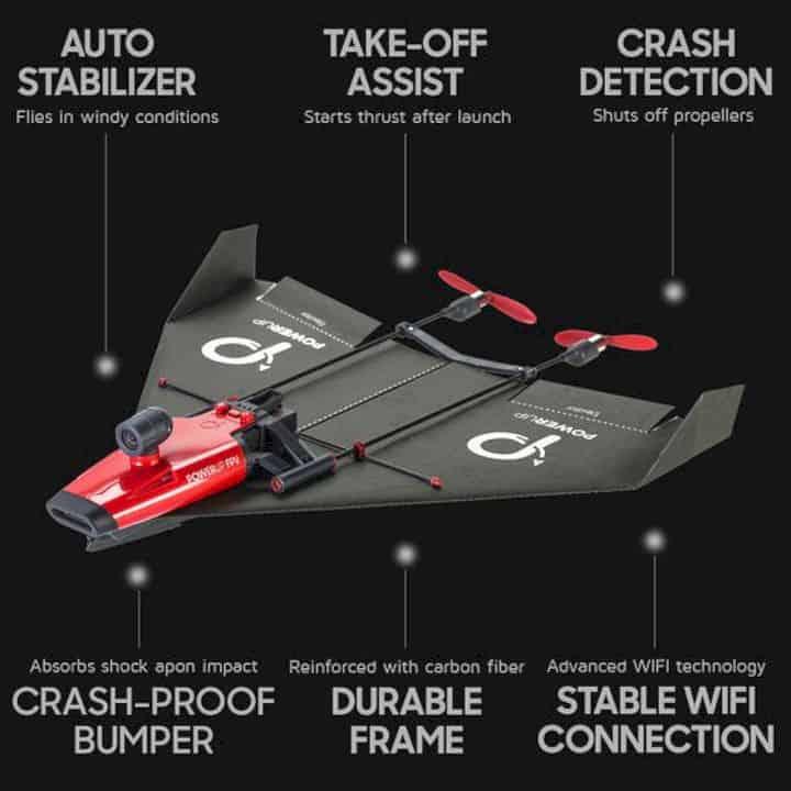 Powerup X Fpv Video Paper Airplane Kit 5
