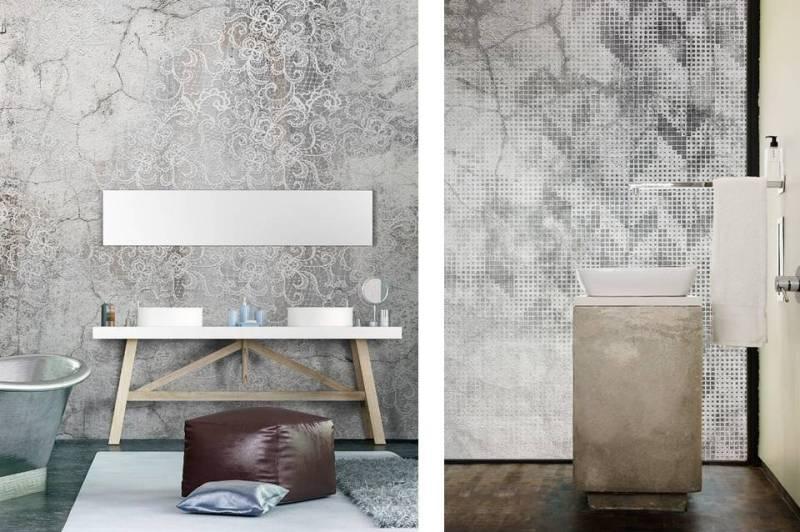 Ecco 43 idee per rivestimenti originali e semplici da applicare con motivi decorativi. Carta Da Parati Per Il Bagno Design Lover