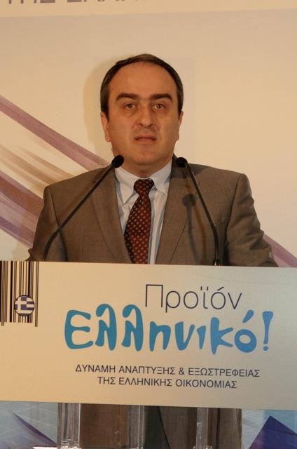 Ο υφυπουργός ανάπτυξης Αθανάσιος Σκορδάς