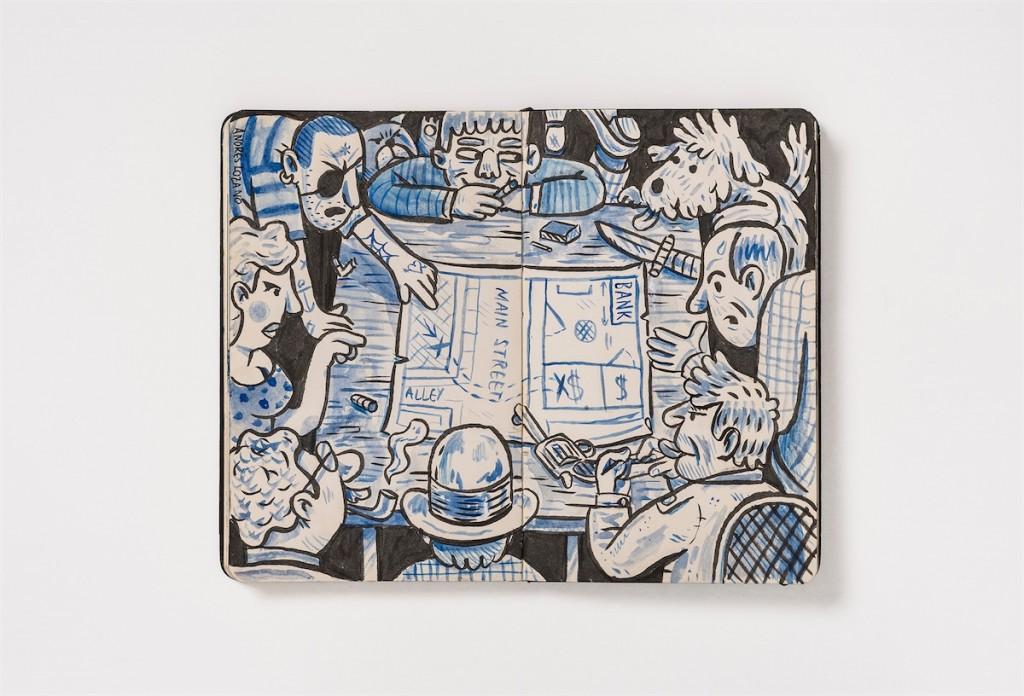 Andres Lozano Martin : Sketchbook #9 Europe