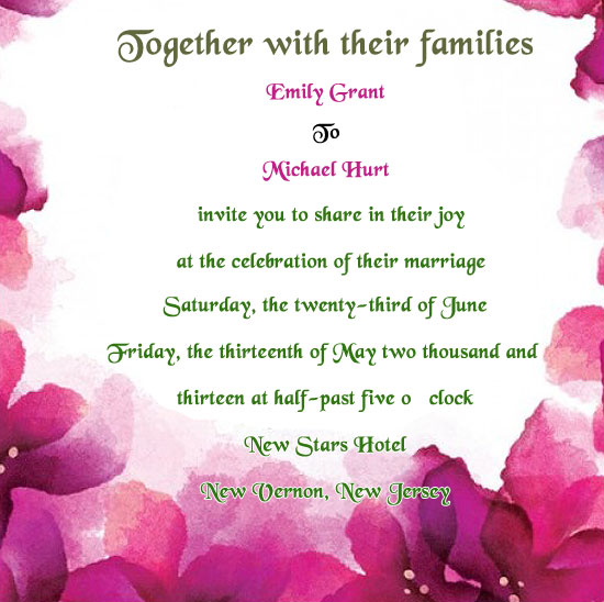 Examples Wedding Invitation Wording Hosted Bride And Groom