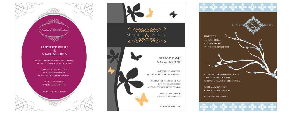 diy custom wedding invitation template