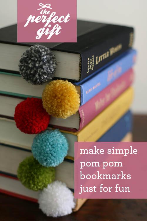 pom pom book marks