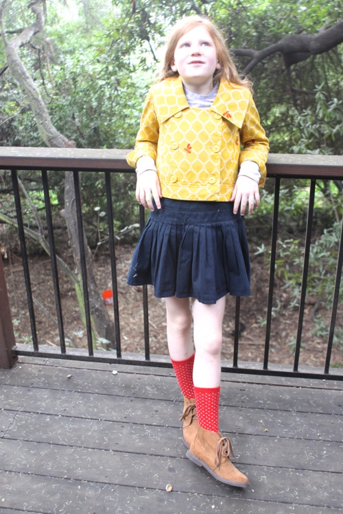 Yellow Dress Navy Shoes