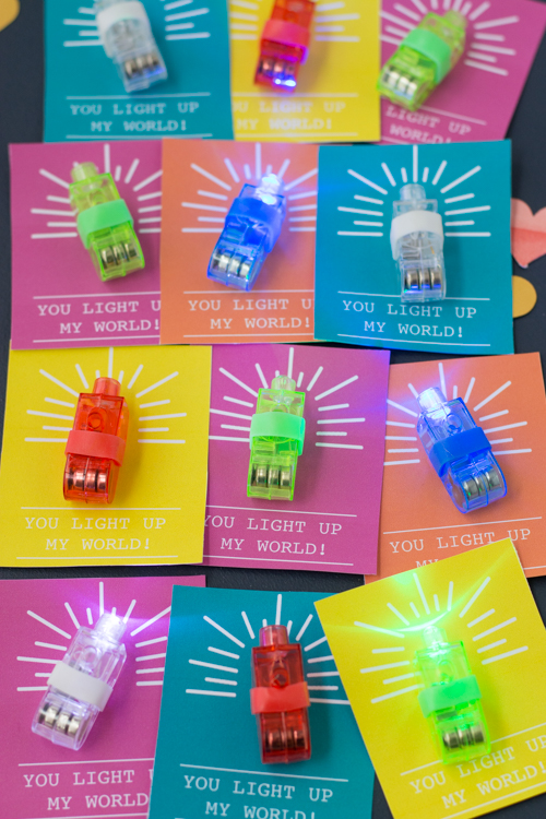 DIY You Light Up My World Valentines With Free