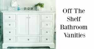 Off the shelf bathroom vanities