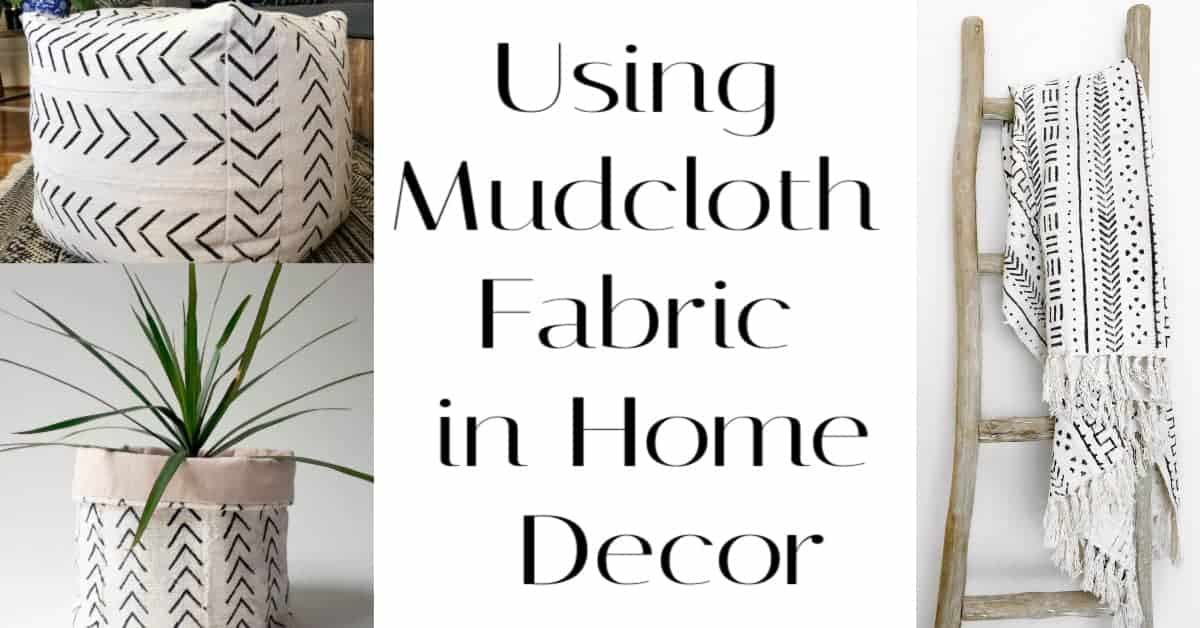 Using mudcloth fabric in your home decor