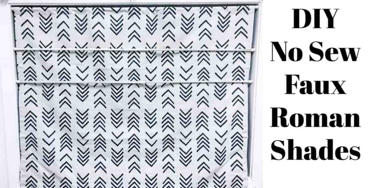 DIY No Sew Faux Roman Shades