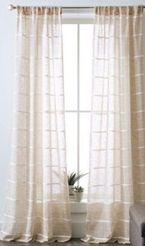Walmart curtains in cream