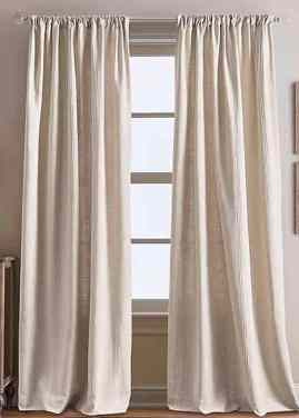 Bed Bath and Beyond linen drapes.