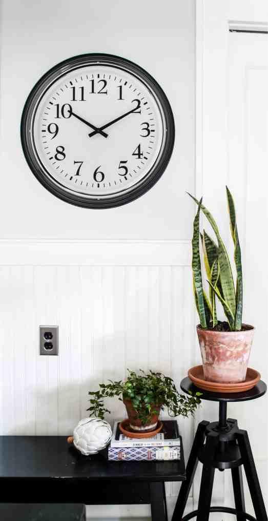 Ikea clock in the kitchen, clocks make great inexpensive art.