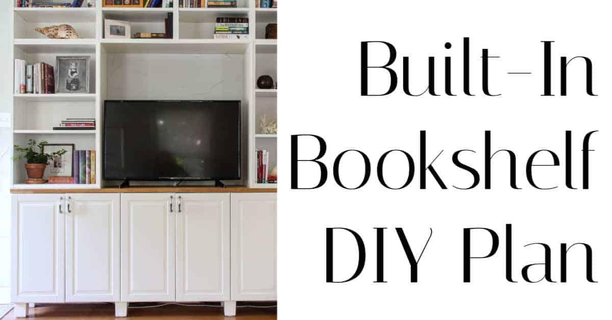 built in bookshelf DIY plan