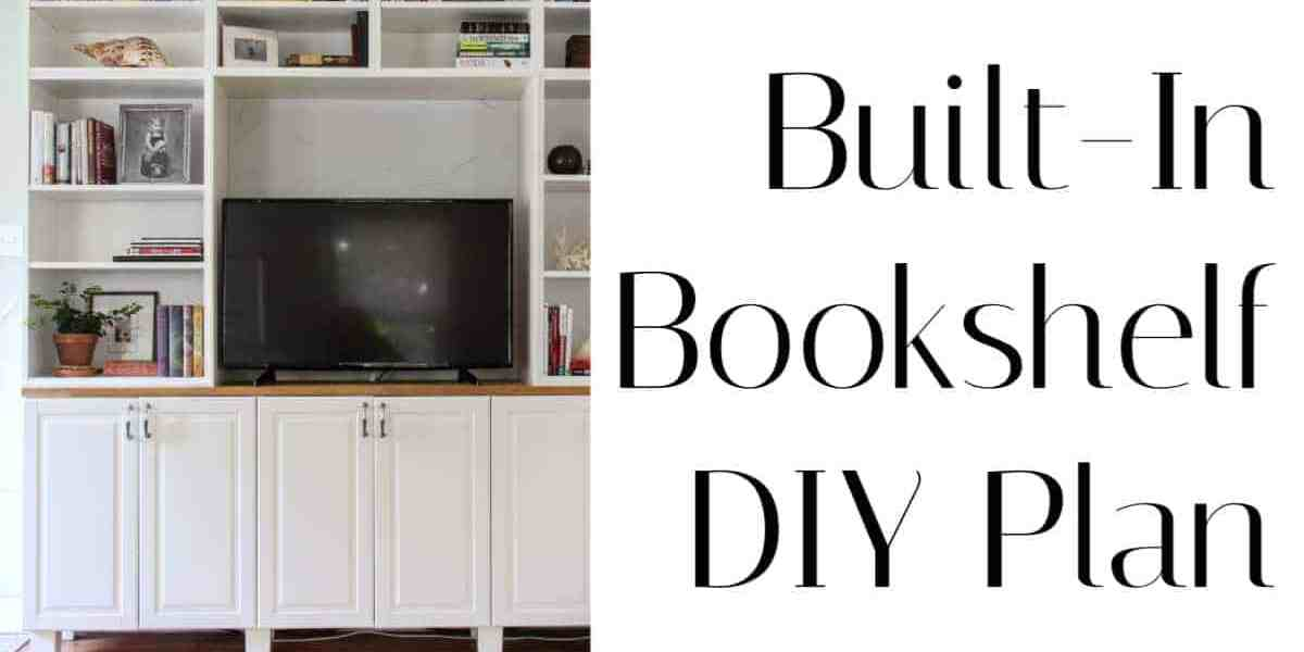Built In Bookshelf DIY Plans