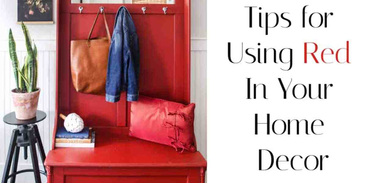 Red home decor tips