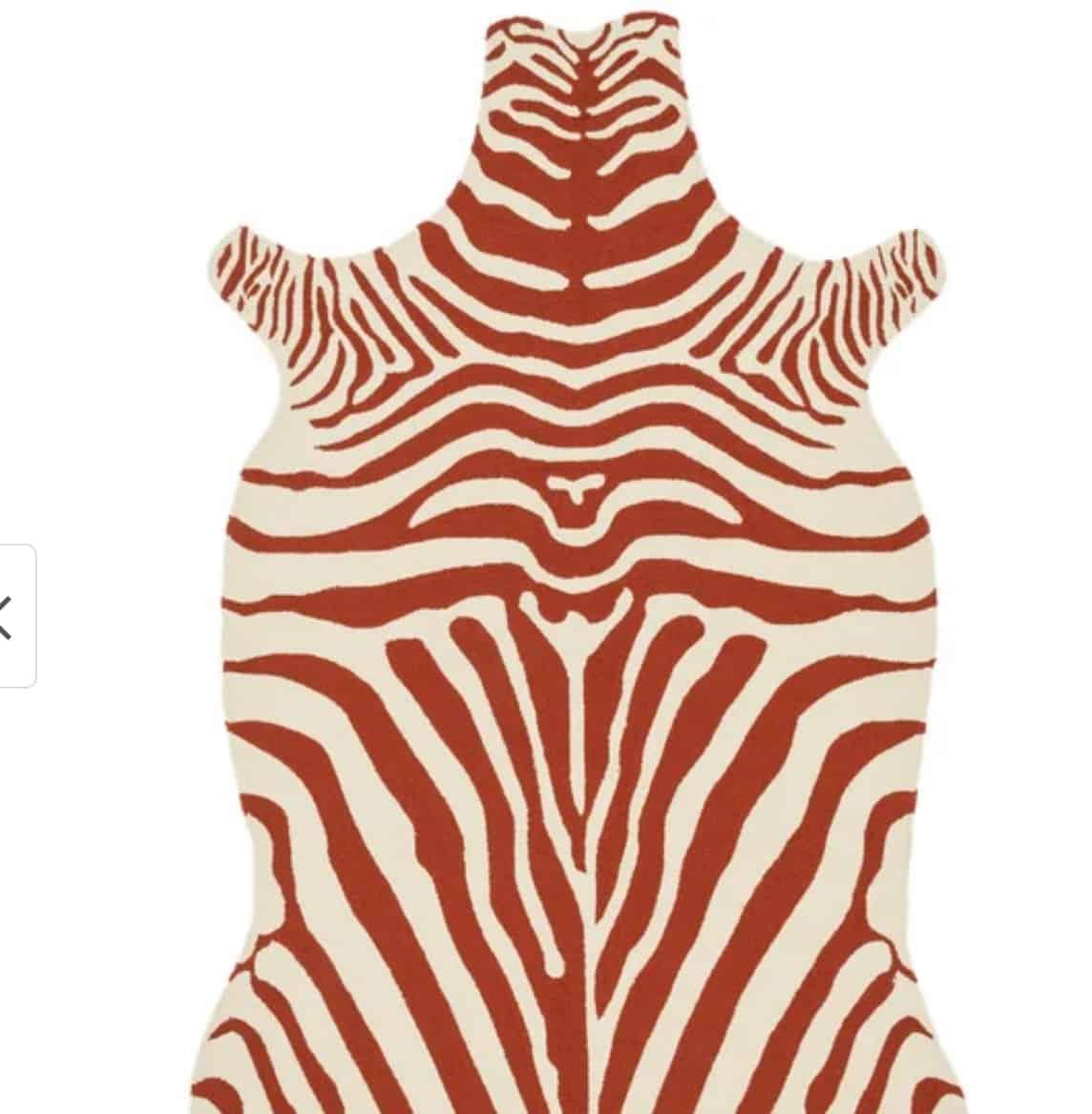 Overstock red animal hide