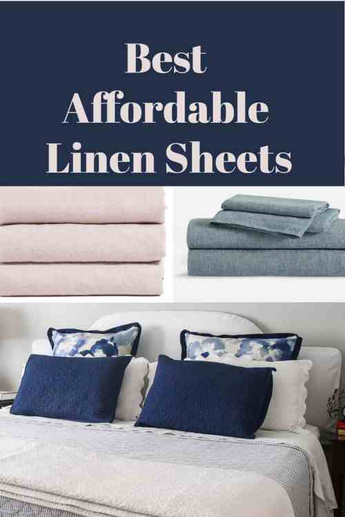 best affordable linen sheets