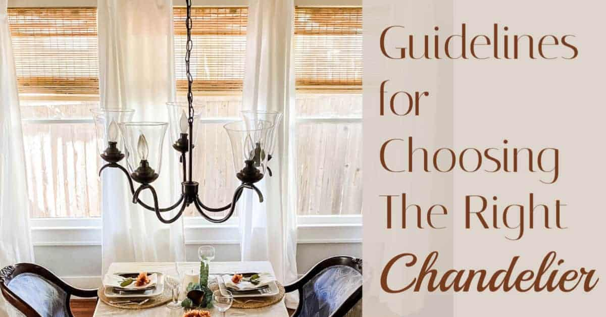 chandelier size guidelines