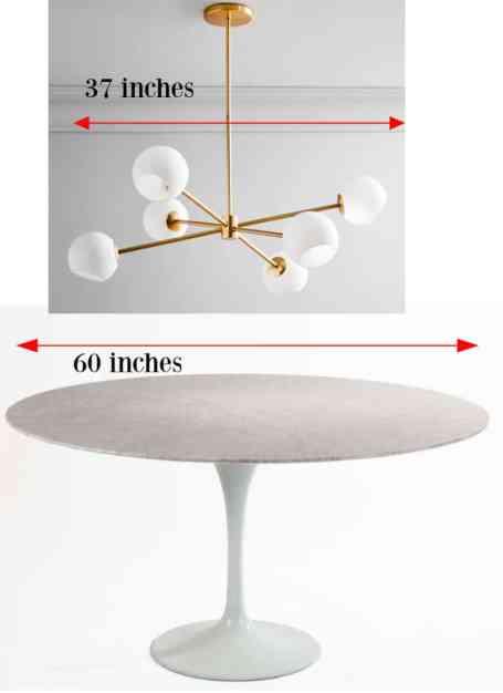 chandelier size