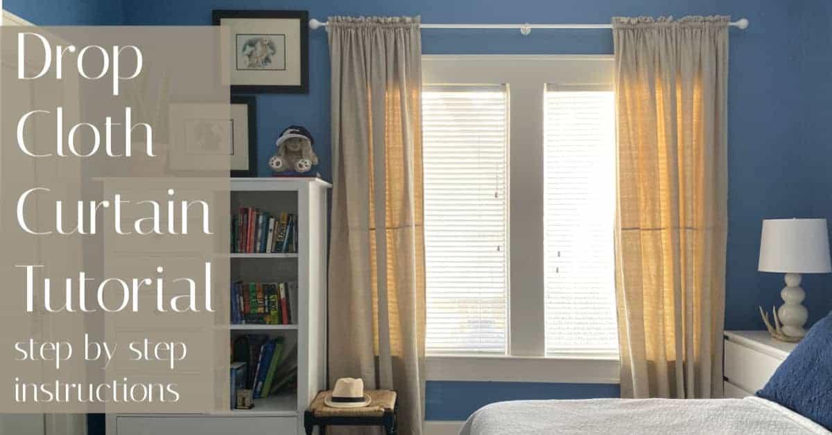 drop cloth curtain tutorial