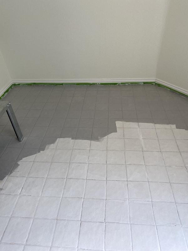 painting tile floors a beginner s