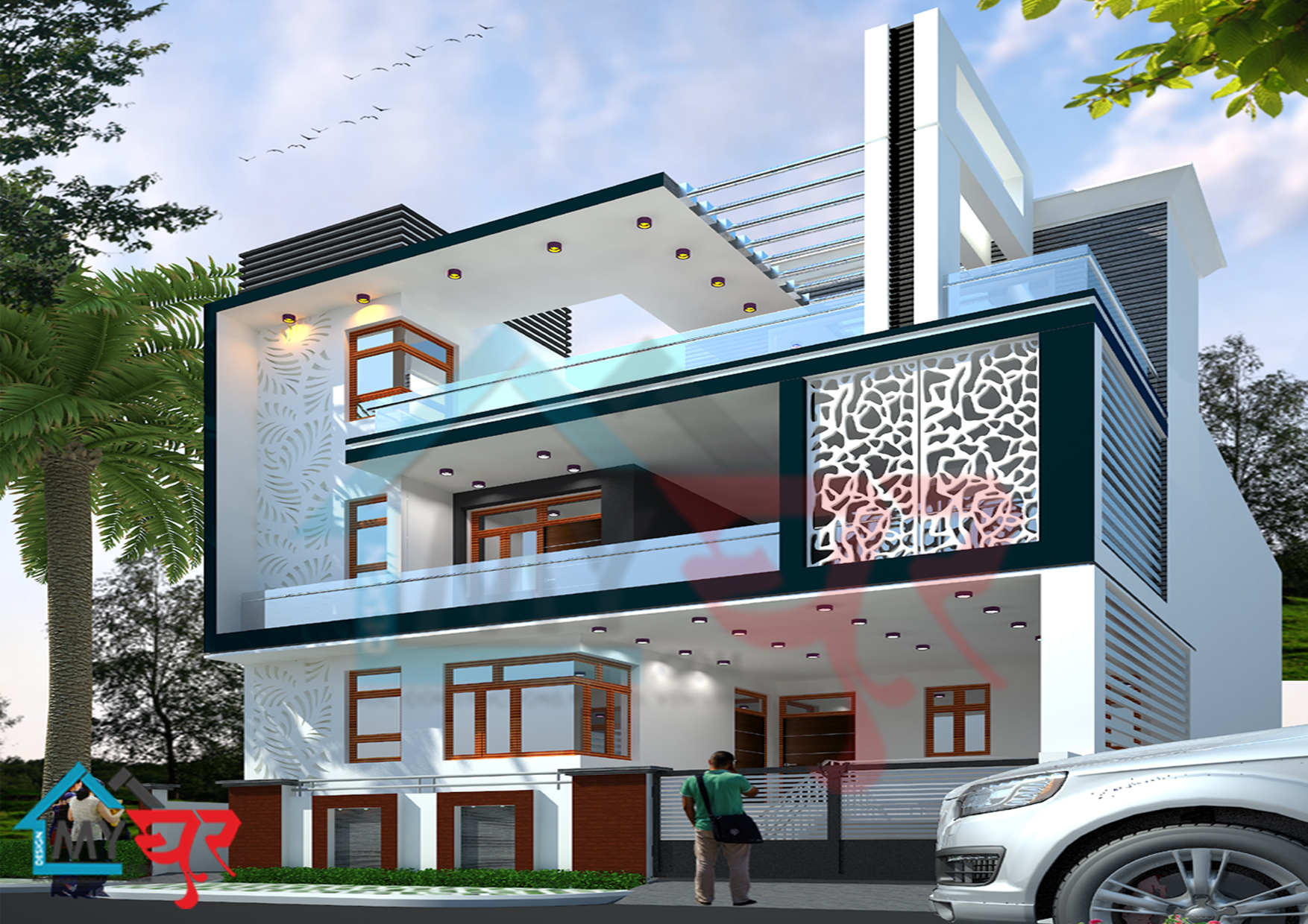 30x60 House Plan, North-East Facing on ( ̄︶ ̄)↗  id=64481