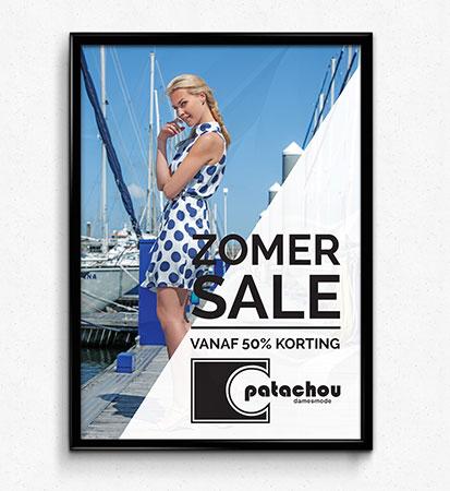 patachou mode poster ontwerp