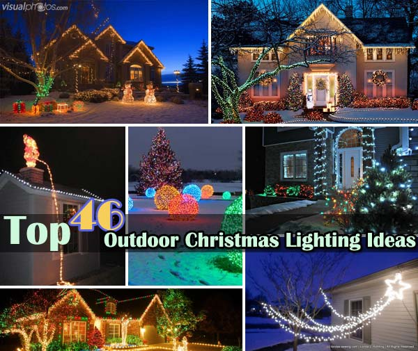 Outdoor christmas lighting ideas tzkw design on vine - Exterior home lighting ideas ...