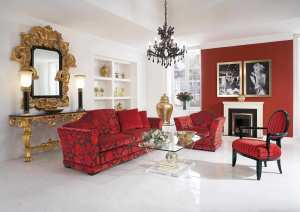 Red Living Room Chairs XFKv