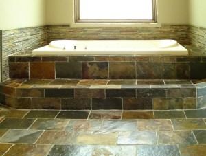 Slate Tile Bathroom Ideas LPQf