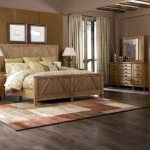 Master bedroom decorating ideas using light colored wood furniture