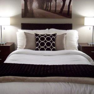 bedroom design ideas using black element
